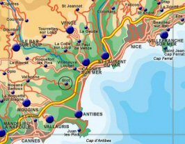 danmarks kortet med byer